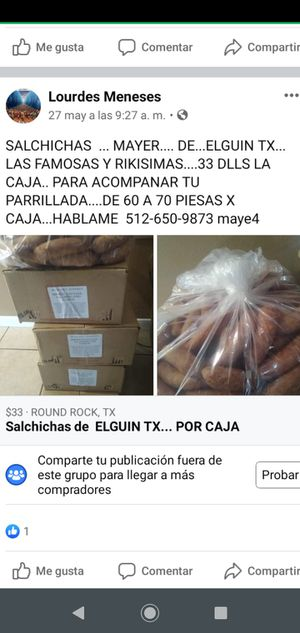 Sausage...MAYER. from Elguin tx....30dll ...have 60&70. pieces for Sale in Round Rock, TX