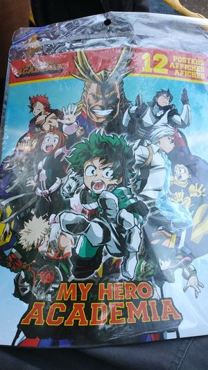 My HERO ACADEMIA AND DRAGON BALL Z 12 POSTERS EACH for Sale in Philadelphia, PA