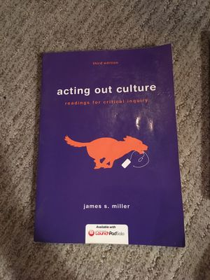 Acting out culture 3rd edition for Sale in Chino, CA