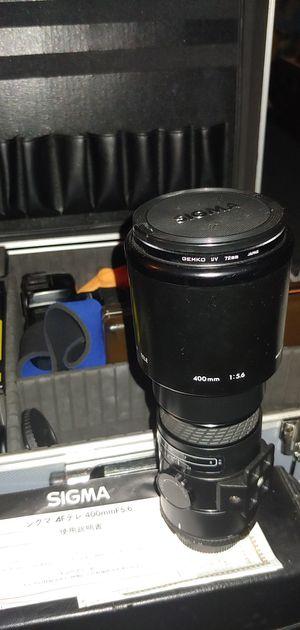 Sigma 400mmF5.6 Lense For Nikon / Nikon & Minolta Cameras and Other Lenses Cameras & Equipment. for Sale in Lake Stevens, WA