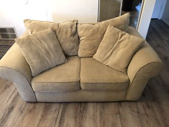 Beige Couch and Love Seat Set for Sale in Salt Lake City,  UT
