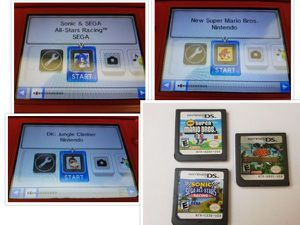 Nintendo DS Games x3 Tested Working Super Mario Bros. Donkey Kong Sonic Racing for Sale in Chattanooga, TN