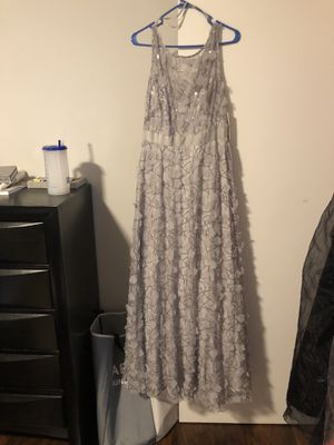 Silver sequin flower dress for Sale in North Olmsted, OH