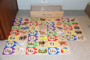 Melissa and Doug Self Correcting ABC Puzzles $10 for Sale in Stockton, CA