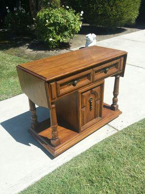 Folding Wood Desk/TV Stand/Multi Use Cabinet On Wheels for Sale in Clovis, CA