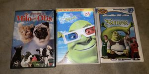 Shrek and milo and Otis movies for Sale in Chula Vista, CA