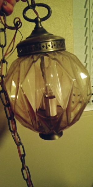 Retro champagne color hanging lamp for Sale in Mesa, AZ