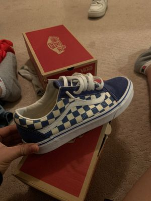 Vans BLUE CHECKERBOARD SIZE 7.5 USED ONCE ! for Sale in Malvern, PA