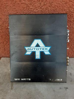 AMPLIFICADOR AMPLIFIER 1200 WATTS 2 CHANELS GOOD CONDICIÓN ABLO ESPAÑOL for Sale in Stockton, CA