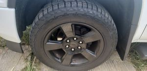 2018 Silverado wheels with tires 20s for Sale in Cumming, GA