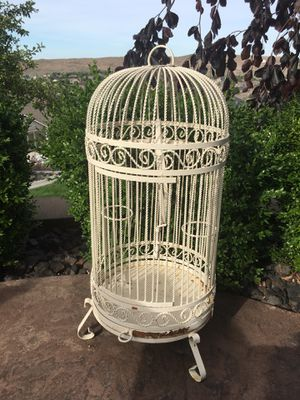 Iron bird cage rustic for Sale in West Richland, WA