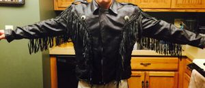 Leather fringe jacket for Sale in Parma Heights, OH