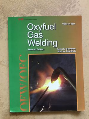 Oxyfuel gas welding book 7th edition for Sale in Los Angeles, CA