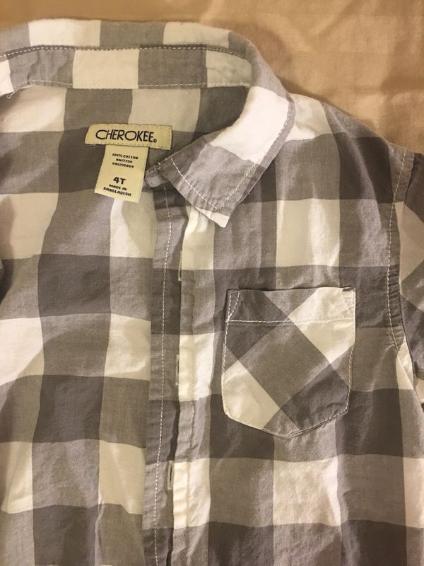 4T sweaters & 5T button up shirt, gently used