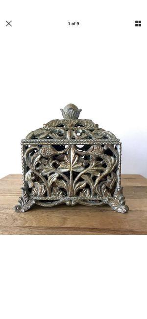 Ornate Antique Style Lidded Ceramic Potpourri Box Home Decor for Sale in San Bernardino, CA