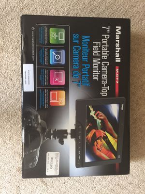 Marshall M-CT7 Field Monitor for DSLR cameras for Sale in Gainesville, VA