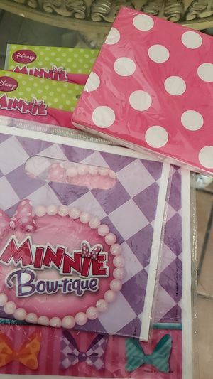 Minnie mouse goodie bags and napkins for Sale in Ceres, CA