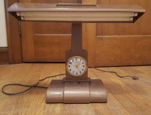 Mid Century Vintage Litemaster Executive/Executor Desk Lamp and Clock Retro antique for Sale in Seal Beach, CA