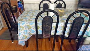 Metal Dining Table with 6 chairs for Sale in MONTE VISTA, CA