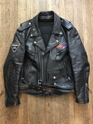 Black Leather size 46 men's leather motorcycle jacket. for Sale in Columbus, OH