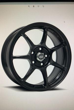 ENKEI Fujin Black 18x8 5x114.3 50mm offset for Sale in North Springfield, VA