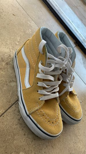 Yellow high top vans size 1.5 for Sale in Fresno, CA