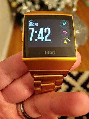Gold fitbit ionic smart watch waterproof 8 day battery for Sale in Elk Grove, CA