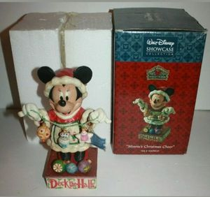 Jim Shore Disney Traditions Enesco Minnie's Christmas Cheer Figurine Mouse for Sale in Kissimmee, FL