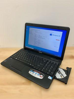 Toshiba laptop / Windows 10 / Antivirus / CD-DVD / Charger / New battery for Sale in Sunrise, FL
