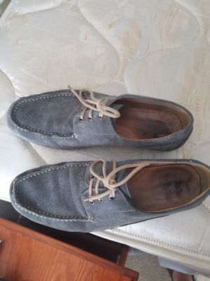 Saks Blue grey suede loafers 9.5 for Sale in Houston, TX