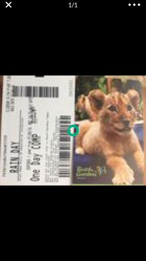 1 Busch Gardens ticket for Sale in Belleair, FL
