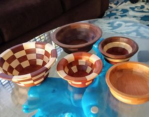 Beautiful handmade wood bowls. Great for Christmas gift for Sale in Panama City Beach, FL