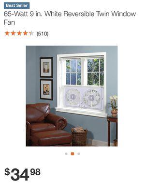Twin reversible window fan for Sale in Charlotte, NC