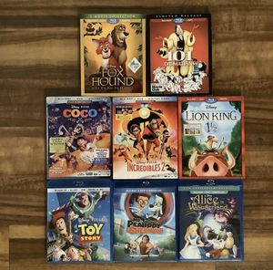 Lot Of 8 Disney Blu-Ray DVDs 5 New 3 Used for Sale in DeLand, FL