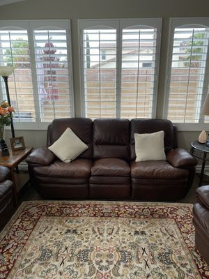 Leather Living Room Set for Sale in Lake Elsinore, CA