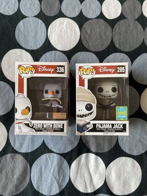 Zero & Pajama Jack -Funko POP! Set Of 2 Pops for Sale in Honolulu, HI