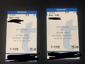 Seahawks vs Ravens for Sale in SeaTac, WA