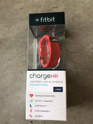 Fitbit Charge HR, large, new in box for Sale in Champlin, MN