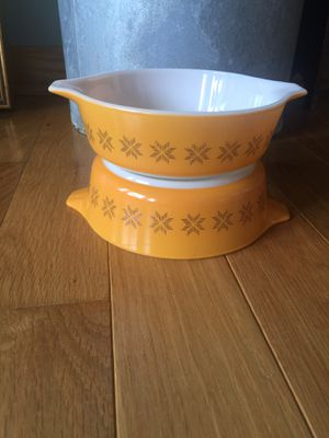 PYREX 471 Orange Town and Country Casserole Dishes for Sale in Grafton, OH