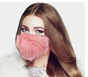Pink furry mask for Sale in Parkville, MD