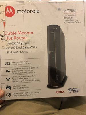 Motorola Modem router combo for Sale in Huntington Beach, CA
