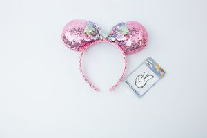 Pink Sequin Minnie Mouse Ears Headband for Sale in Sacramento, CA
