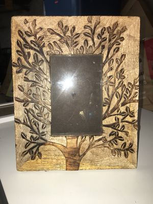8.5x 10.5x Wood Carved Tree Picture Frame for Sale in Somerville, MA