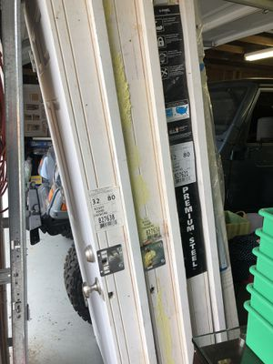 Garage man doors steel for Sale in Puyallup, WA