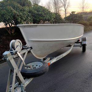 14 Ft. Deep V Aluminum Boat& Galvanized Trailer for Sale in Kent, WA