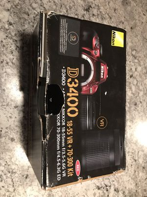 Nikon D3400 burgundy edition for Sale in Ithaca, NY
