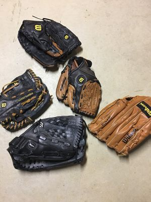 Various baseball gloves for Sale in Mount Holly, NJ