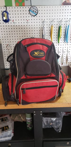 Fishing tackle box backpack for Sale in Diamond Bar, CA