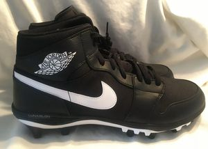 Nike Air Jordan 1 Mid TD Black Football Cleats sz9 for Sale in Bakersfield, CA