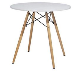 """White Round Dining Table 32"""" Modern Pedestal Small Circle Room Table Leisure Tea Coffee Kitchen Table (White) for Sale in Portland,  OR"""